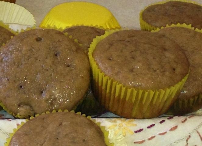 Muffins de plátano y canela